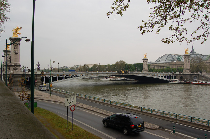 One of many bridges spanning the Seine River.