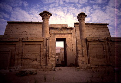 Temple of Medinet Habu, the western bank of Thebes near Luxor. September 13, 1984