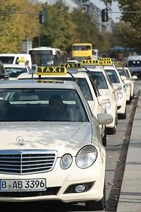 Berlin taxi cabs.