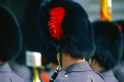 Changing of the guard, Buckingham Palace.