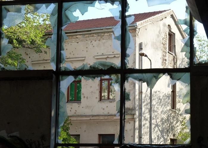 Bullet Holes, Mostar, Bosnia & Herzegovina