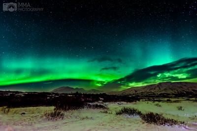 Riding Valkyries (Aurora in Þingvellir)