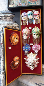 Small Carnival masks for sale.