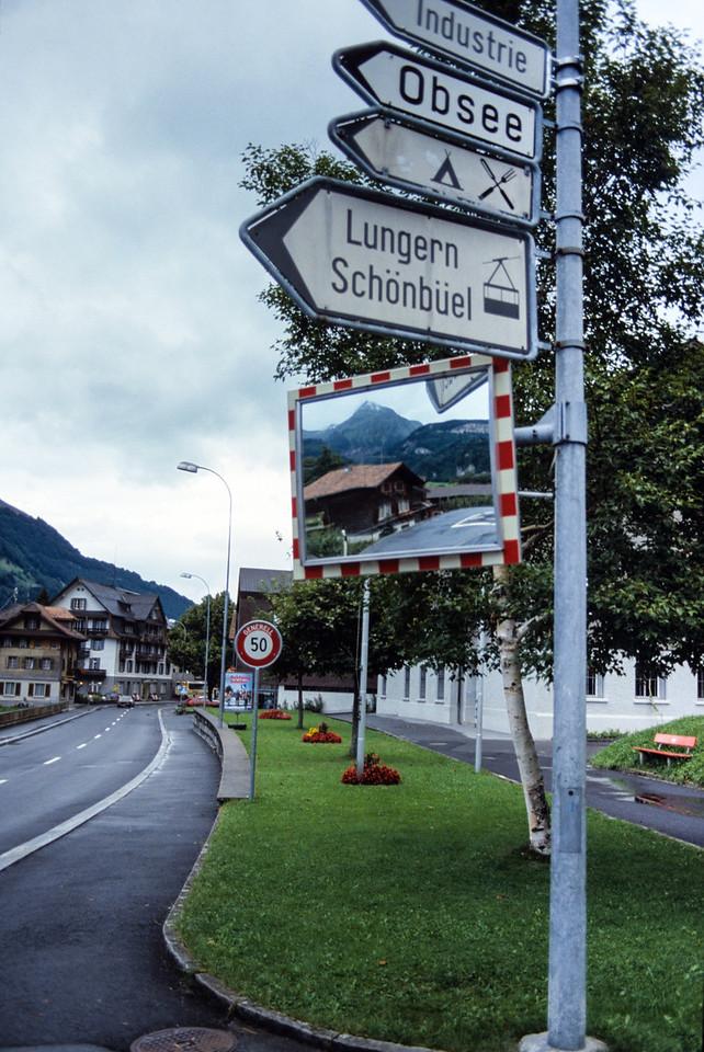Street signs in Lucerne, Switzerland - August 1985