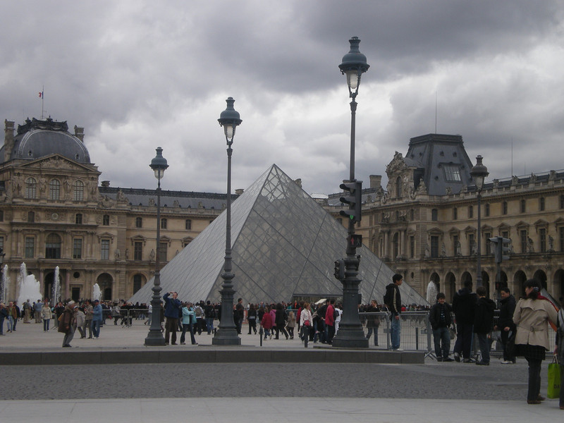 Louvre - outside.