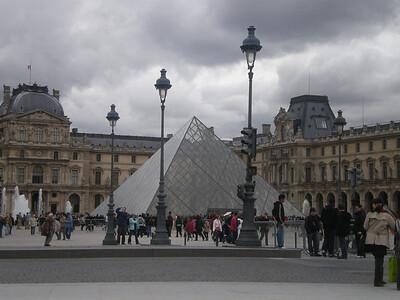 Louvre - outside.