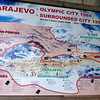 Map of Sarajevo During Bosnian War