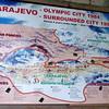 Map of Sarajevo During Bosnian War