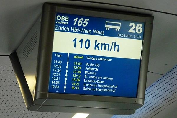 Eurail Train Lucerne to Vienna