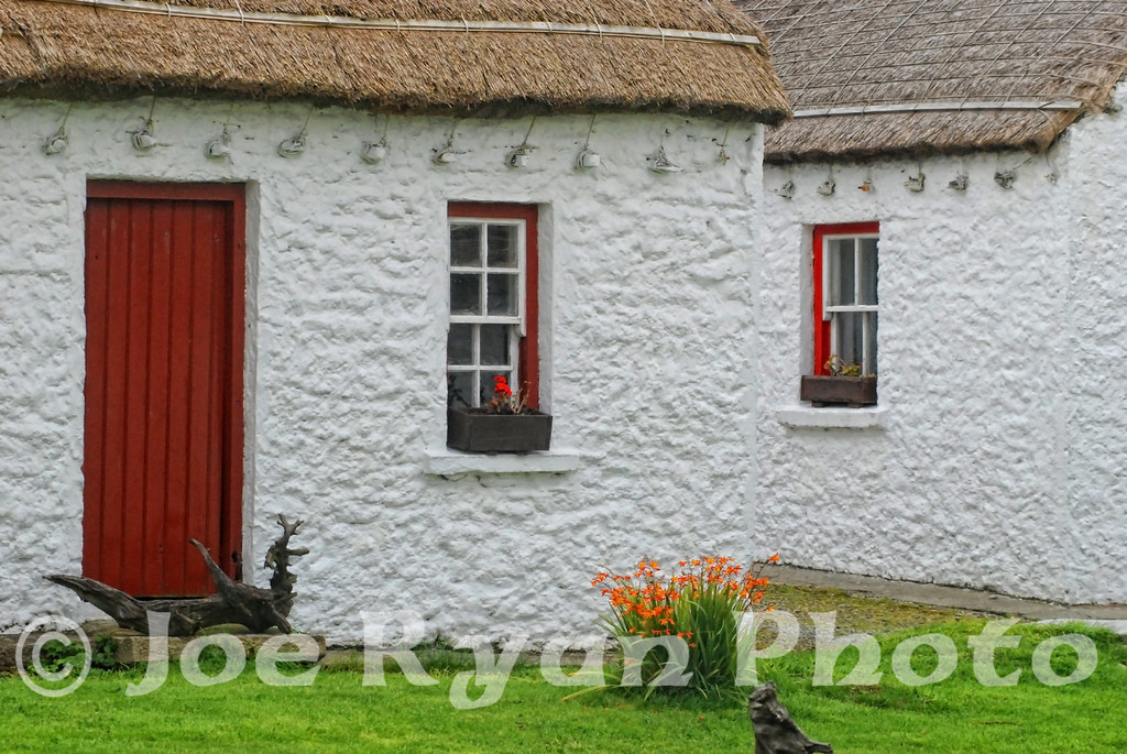 Old cottages in County Donegal, Ireland
