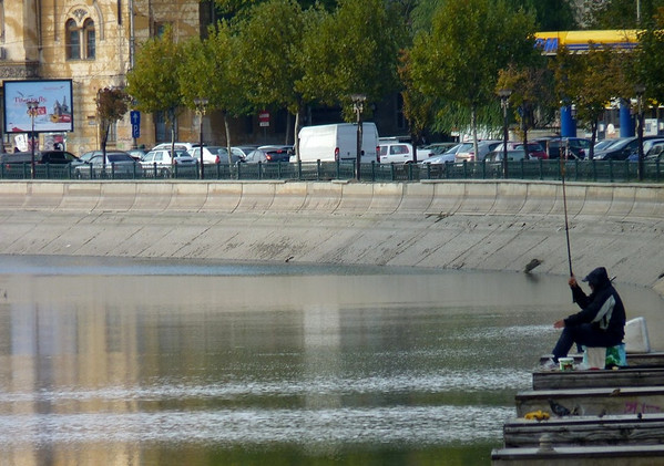 Fisherman, Bucharest, Romania