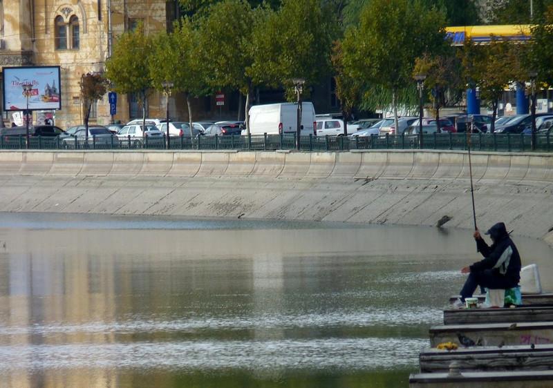 Fisherman, Bucharest, Romania