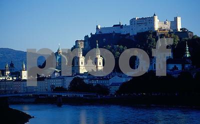Salzburg river & ruins