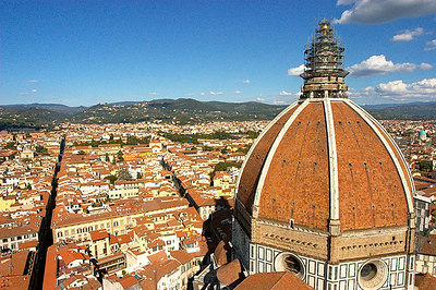 A view of the Basilica of Santa Maria del Fiore from Giotto's bell tower.