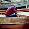 Shipwright on the island of Faial, Azores - Portugal - Taken with a Nikon EL with a 75-150 Nikkor Zoom Lens - Kodachrome 64 ASA film - scanned with a Plustek OpticFilm 7200 slide scanner.