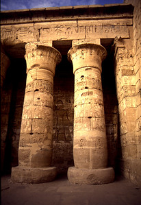 Temple of Medinet Habu, western bank at Thebes, Egypt