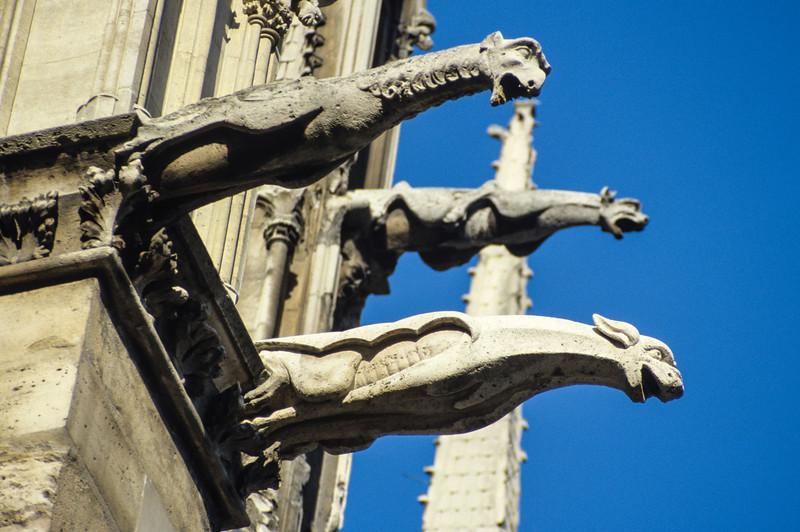 Gargoyles on Notre Dame - August 1985