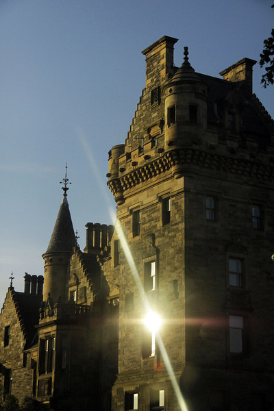 Sunset on Edinburgh University - Scotland