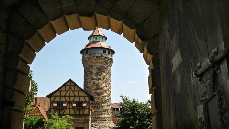 Tower in the Imperial Castle, Nuremberg, Germany.