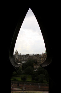 Window of Scott's Monument - Scotland