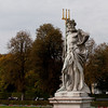 A statue of Neptune at Schloss Nymphenburg in Munich, German.  Schloss Nymphenburg was one of royal residences of the Bavarian royal family.