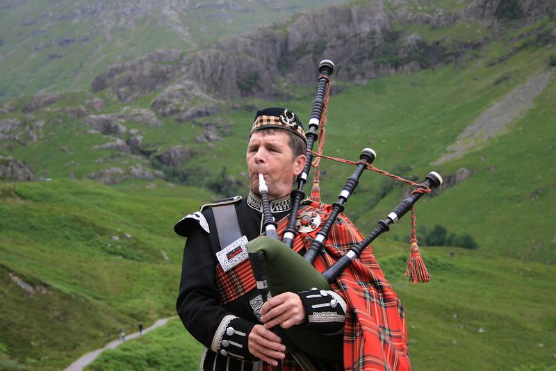 Scottish Piper - Highlands Glencoe, Scotland