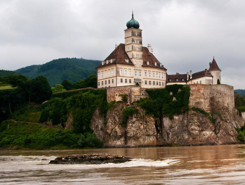 Danube River Cliff Building, Germany.