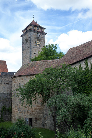 Town Wall Moat, Rothenburg Germany