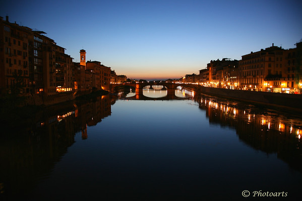 """Arno River Reflections"""