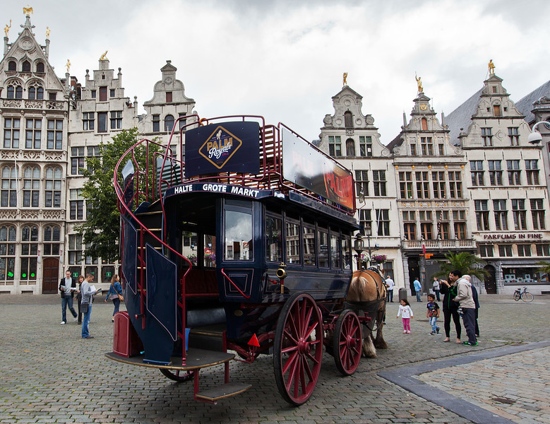 Carriage on the Square, Antwerp, Belgium.