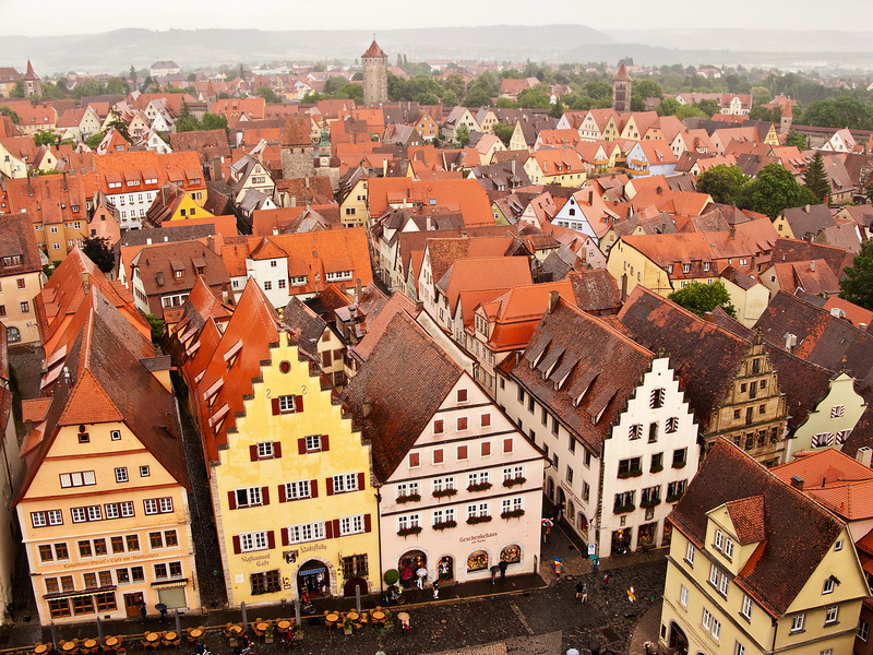 Rothenburg, Germany from Tower.