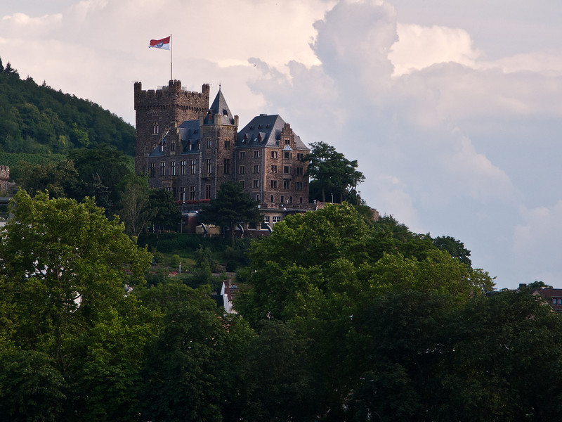 Klopp Castle on the Rhine, Germany.