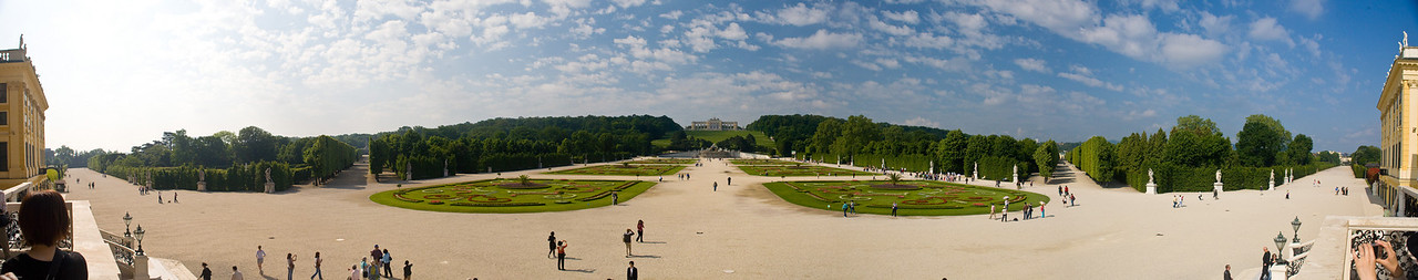 View of the gardens behind Shoenbrun Palace, Vienna