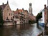 Bruges Canal Corner, Belgium.