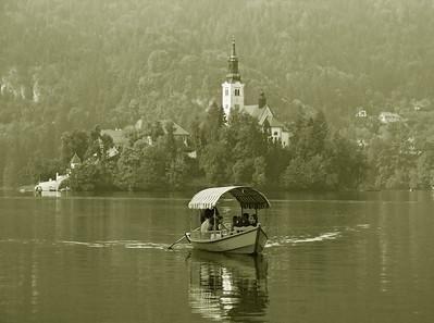 Lake Bled - Sepia