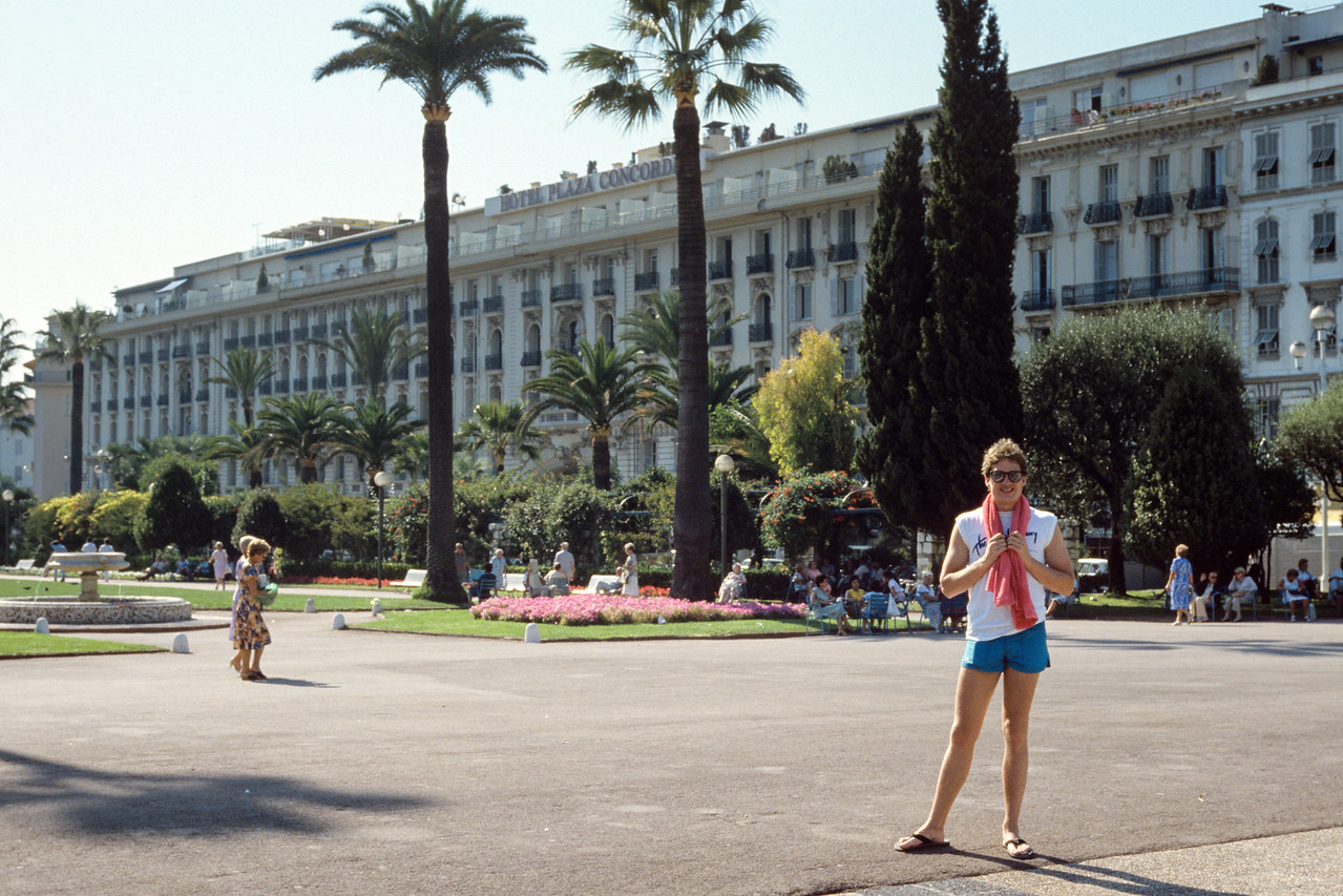 Bryan outside hotel in Nice - August 1985