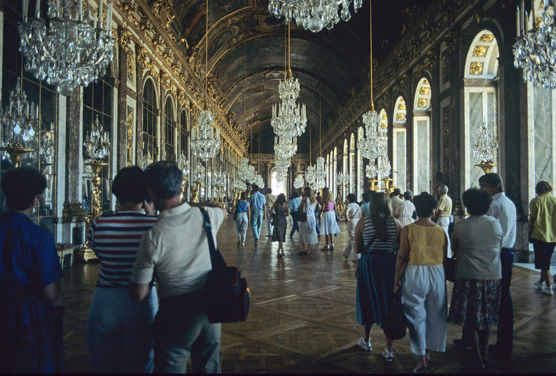 Inside Versailles Palace, France - August 1985
