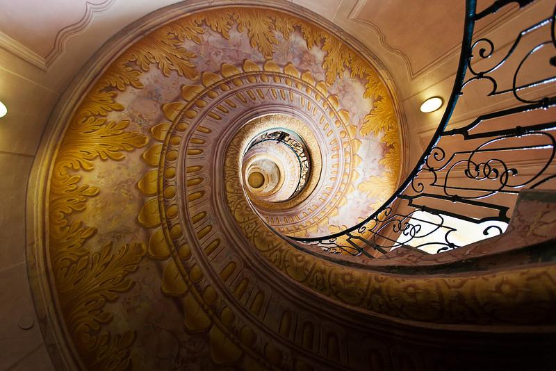 Spiral Staircase, Melk Abbey, Austria
