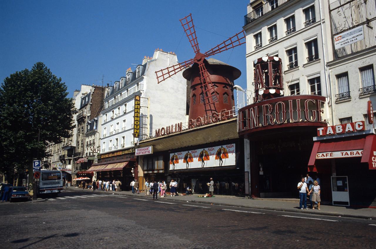 The Moulin Rouge, Paris - August 1985