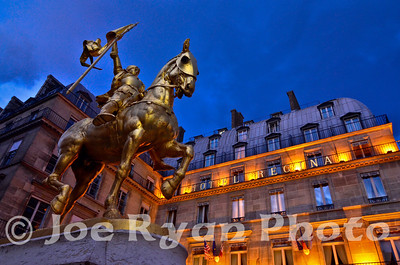 Joan of Arc at Hotel Regina Paris, France