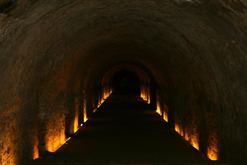 Roman Tunnel Leading to Ancient Amphitheatre - Tarragona, Spain