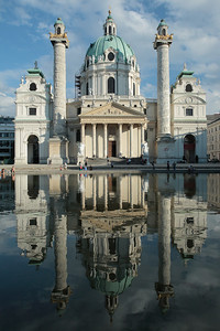 Karlskirche, Church of St. Charles Borromeo. Vienna, Austria.