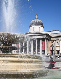 The National Gallery,Trafalgar Square, London.