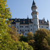 One of the towers of King Ludwig II's Schloss Neuschwanstein.