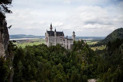 Neuschwanstein Castle from Mary's Bridge, Fussen Germany