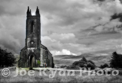 Church of Ireland ruins Poisoned Glen, Dunlewey County Donegal, Ireland