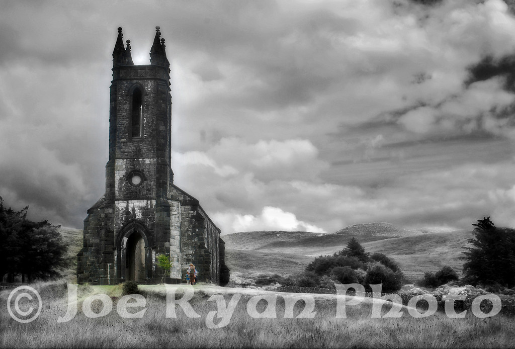 Church of Ireland ruins<br /> Poisoned Glen, Dunlewey<br /> County Donegal, Ireland