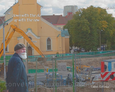 Tallinn, Estonia- down with the old, up with the new.