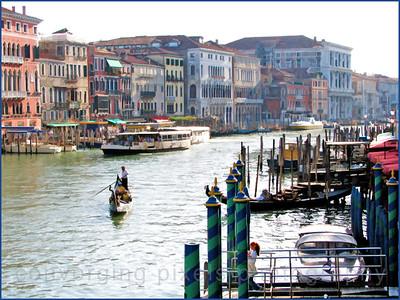 """Venice, Italy #3""  The classical Venetian gondola."