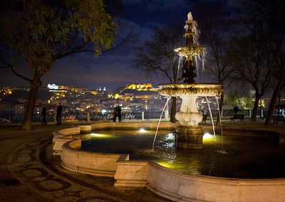 Fountain on Lisbon hilltop